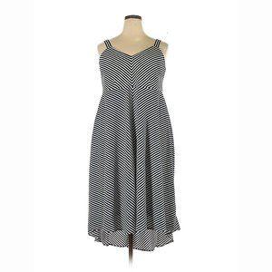 NWT Taylor Brand Nautical Stripe Dress Plus 18W